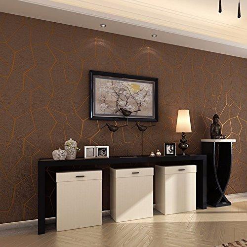 Preisvergleich Produktbild HUANGYAHUI Modernes, Minimalistisches Tv Hintergrund Tapete Cube Wildleder Tapeten Fashion Schlafzimmer Wohnzimmer Video Wallpaper, Kaffee