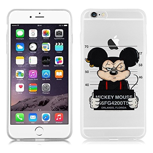 Blitz® WITZ Schutz Hülle Transparent TPU Cartoon Comic Case iPhone Papierflieger iPhone 5 gefangene Maus