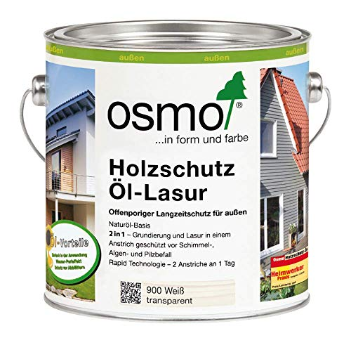 Osmo Holzschutz Öl-Lasur Weiß (900) 750 ml