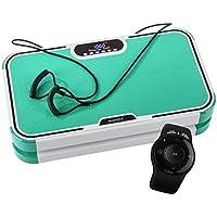 Skandika Vibration Plate 900 Plus -Plateforme Vibrante 3D à Double Moteur-Bluetooth A2DP, Haut-parleurs Musique, Sangles Elastiques, Télécommande au Poignet