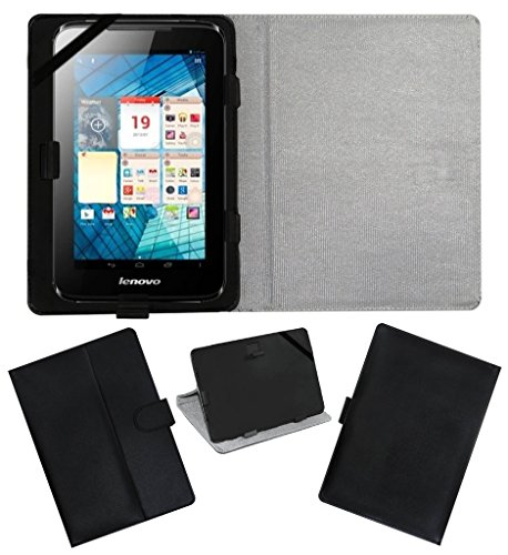 ACM LEATHER FLIP FLAP TABLET HOLDER CARRY CASE STAND COVER FOR LENOVO A1000L BLACK  available at amazon for Rs.199
