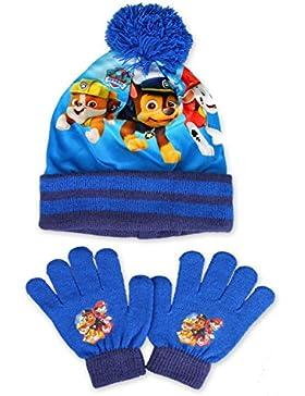 Nickelodeon - Set de bufanda, gorro y guantes - para niño Blue & Navy