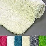WohnDirect Badematte Rutschfester Badvorleger Waschbar Microfaser Flauschiger Duschvorleger Badteppich Badezimmer 60x100cm