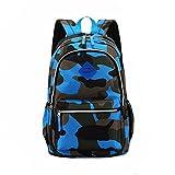 Kinderrucksack Schulrucksack Schultasche Sportrucksack Freizeitrucksack für Mädchen Jungen & Kinder mit der Großen Kapazität(Blau 3)