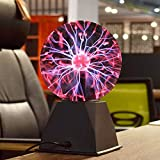 Theefun True 6 Inch Magic Plasma Ball, Touch & Sound Sensitive Plasma Lamp, Nebula Sphere Globe Novelty Toy for Bedroom Home Decorations