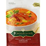 Red Curry Paste (Kaeng Ped)Thai Authentic New Herbal Food Net Wt 50 G (1.76 Oz.) Kanokwan Brand X 5 Bags
