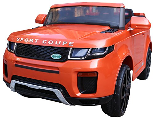 12v Range Rover Style Evoque Ride on Jeep Car with Parental Remote Control (ORANGE)