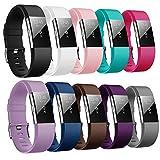 Yometome Für Fitbit Charge 2 Armband Original, Weiche TPE Uhrenarmband für Sport und Ersatz Klassisch Armband für Fitbit Charge2