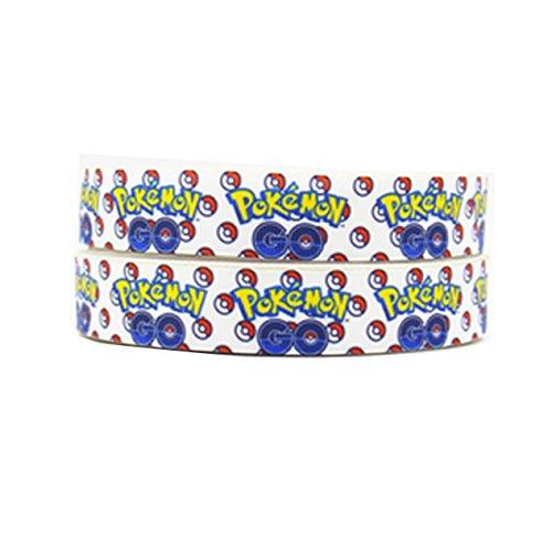 Pimp My Shoes 2m x 22mm Pokemon Go Ripsband für Birthday Cake 's, Hochzeit Kuchen, Geschenkpapier Mütter Tag