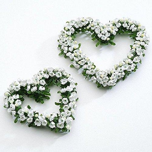 Fleur Blanc Cœur 12 cm