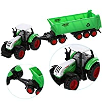 FALAIDUO Alloy Engineering Car Tractor Toy Truck Educational Vehicle Farm Vehicle Belt Boy Tractor Toy Kids Gifts