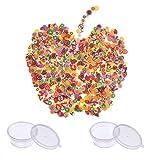 Simuer 2pezzi di frutta Fimo Slices Fruit Face decorazioni Slime making supply per attaccare al fango e nail art About 6000PZ