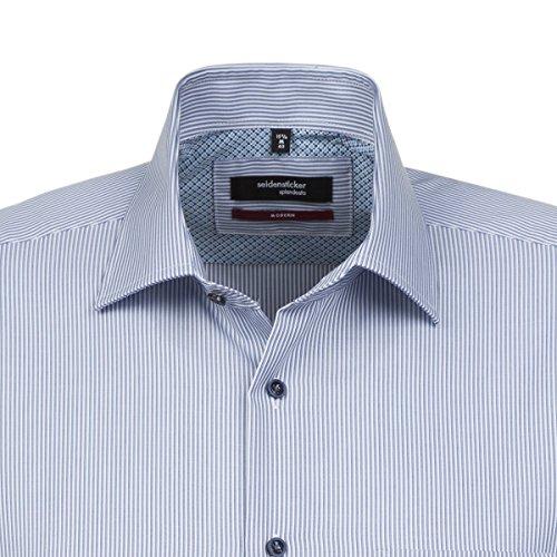 ... SEIDENSTICKER Herren Hemd Modern 1/2-Arm Bügelfrei Streifen City-Hemd  Kent-