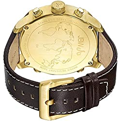 JBW J6248LO - Reloj de cuarzo para hombre, con correa de cuero, color marrón
