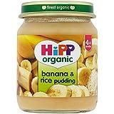 Hipp biologique Banana & Rice Pudding 4mois + (125g) -