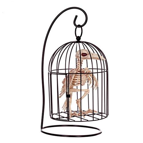 Halloween Dekoration Gegenstand Simulation Vogel Modell Schädel Knochen Regal Horror Bar Haunted Haus Requisiten