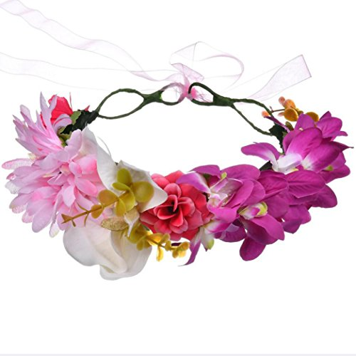 TINGTING-Vacaciones-de-moda-Tiara-Hairband-Corona-Orqudea-Phalaenopsis-Dama-de-honor-Corona-de-boda-1