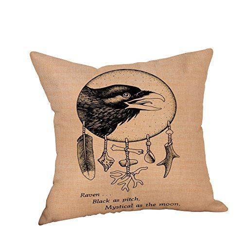 Kostüm Crow Halloween - VICKY-HOHO Happy Halloween Kissenbezüge Crow Leinen Sofa Kissenbezug Home Decor