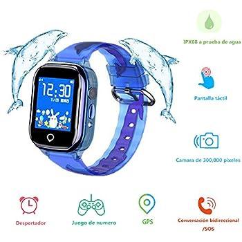 Smartwatch Niños, MUSSON Reloj Inteligente Niños, IPX68 ...