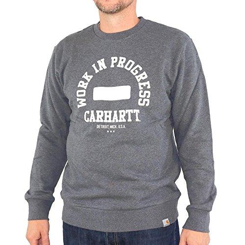 Sweatpulli Carhartt Wip Sweat dark grey /white