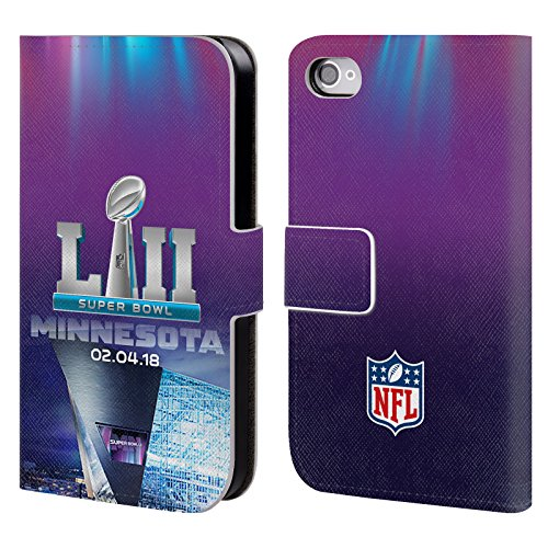 Ufficiale NFL Modelle 3 2018 Super Bowl LII Cover a portafoglio in pelle per Apple iPhone 5c US Stadio Banca