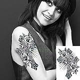 adgkitb 3 stücke Wasserdicht Temporäre Tätowierung Aufkleber Vogel Rose Gefälschte Tatto Tatoo Große Größe Zurück Für Mädchen Frauen Lila 24x14 cm