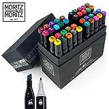 Moritz & Moritz 40er Set Twin-Marker Duo-Fasermaler - Intensive Farben