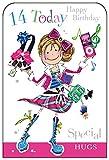 Geburtstagskarte für Mädchen im Alter von 14 Jonny Javelin