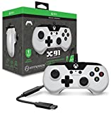 #7: Hyperkin X91 Wired Gaming Controller - White - for Xbox One and Windows 10 (PC and Tablet) via USB with Retro Design, 3.5mm Headset Jack, and 9 Ft. Cable