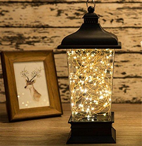 HAPPYMOOD Mauer Lampe Zeichenfolge Beleuchtung 100LED Batterie Angetrieben Romantisch Fee Zum Innen Draussen Weihnachten Valentinstag (Halloween Niedliche Bild)