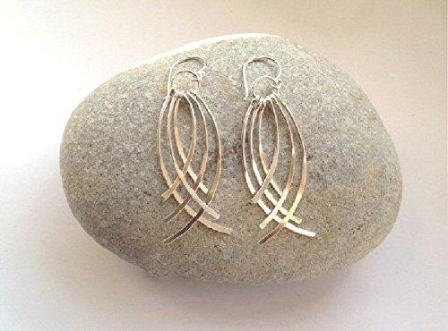 sterling-silver-chandelier-earrings-curved-bar-earrings-silver-boho-earrings-silver-dangle-earrings-