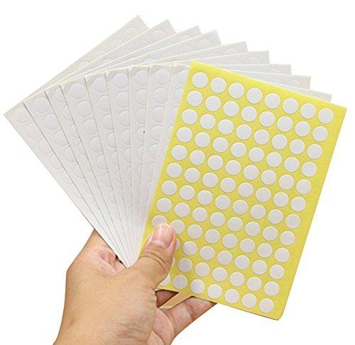 10 Feuilles 960 pcs étiquettes blanches Multicolore rond Cercle de codage d'huile essentielle Rouleau Bouteille échantillons Stickers étiquettes Blanc