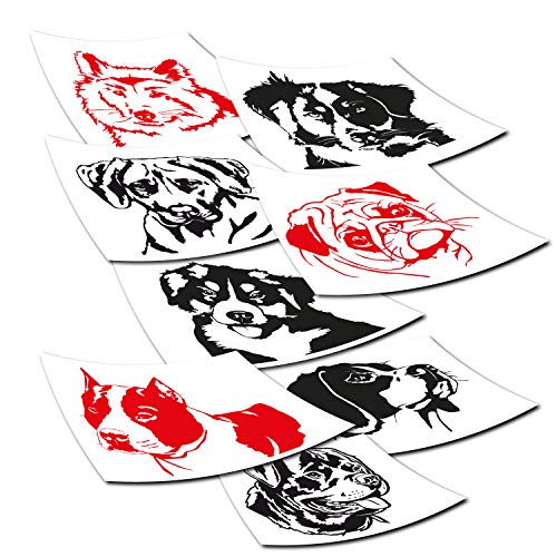 Klebe-X Rassehunde Autoaufkleber Hunde | große Motivauswahl | einfache Konfiguration Hund Autoaufkleber | Größe S