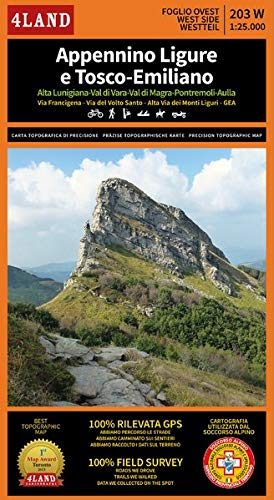 Appennino Ligure e Tosco-Emiliano: 2.200 km di tracciati GPS - Via Francigena, Alta via dei Monti Liguri e tanti altri sentieri a lunga percorrenza.