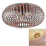 Deckenleuchte Ovari aus Metall in Kupferfarben – Extravagante Lampe mit auffälligem Schirm und Lichteffekten an der Decke – 1 x E27-Fassung – Zimmerlampe für Wohnzimmer – Flur – Dielen – Schlafzimmer