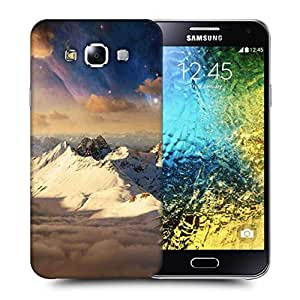 Snoogg Everst Top With Clouds Printed Protective Phone Back Case Cover ForSamsung Galaxy E5