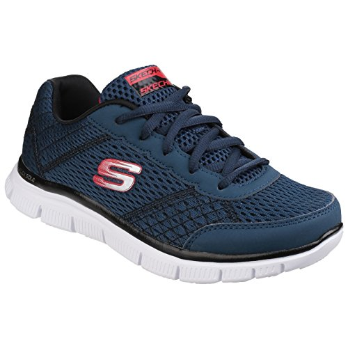 Skechers Flex Advantage bleu, baskets mode mixte Bleu marine/Rouge
