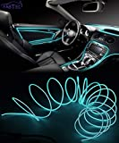FABTEC EL Wire Car Interior Light Ambient Neon Light for Cars with Adapter