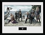 1art1® Vikingos - Beach Póster De Colección Enmarcado (40 x 30cm)