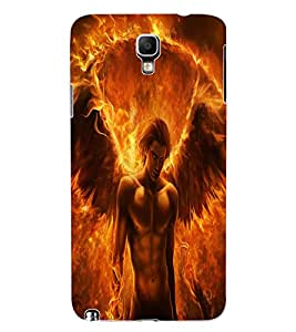 ColourCraft Flaming Feathers Design Back Case Cover for SAMSUNG GALAXY NOTE 3 NEO DUOS N7502