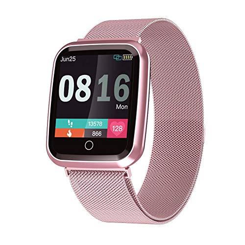 terferein Reloj Inteligente A Prueba De Agua Hombres Mujeres Fitness Pulsera Monitoreo del Ritmo Cardíaco con Una Variedad De Modos Deportivos, Prueba De Ritmo Cardíaco Continuo Las 24 Horas
