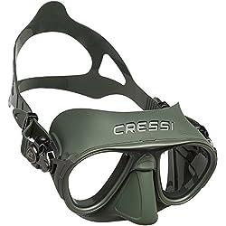 Cressi Sub S.p.A. Calibro Masque de Plongée Mixte Adulte, Vert