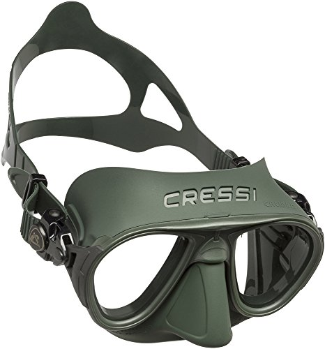 Cressi Erwachsene Calibro Tauchmaske, Grün, Uni