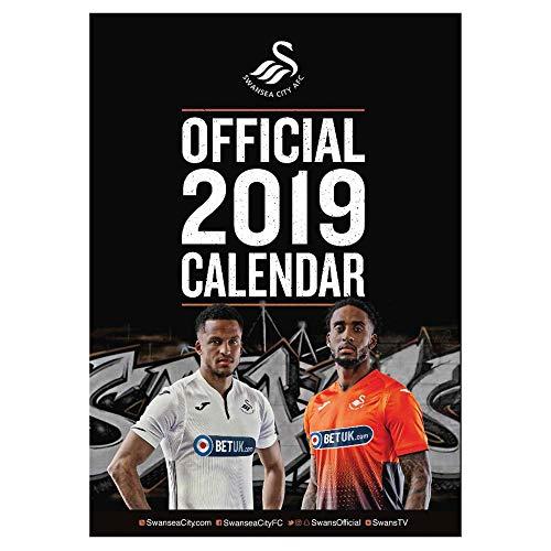Swansea City Offizieller FC 2019 Fußball Wandkalender (A3) (City Fc Swansea)
