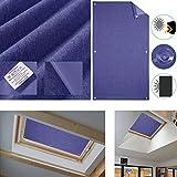 HDM 60x115 cm Bleu Foncé Store pour Fenêtre de Toit avec Ventouse Rideau de Velux...