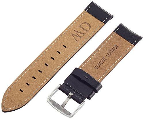 Daniel-Wellington-Herren-Uhren-Armband-Classic-Sheffield-Leder-schwarz-Schliesse-silber-DW00200020