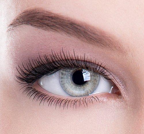 """Farbige Kontaktlinsen\""""Grau Perfektion\"""" - Ideal für Schönheit, Glamour, Augenfarbe ändern - von Colour Perfection ® TM - weich ohne Stärke als 2er Pack"""