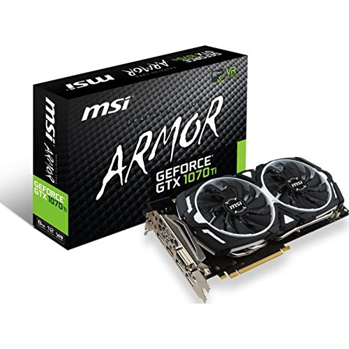 MSI GeForce GTX 1070 Ti ARMOR 8G 8GB GDDR5 - graphics cards (NVIDIA, 1607 MHz, 2-Way SLI, 1683 MHz, 8 GB, GDDR5)