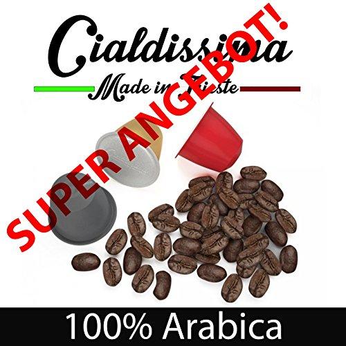"cialdissima 100 Kapseln Nespresso Kompatibel 100{67e6cb9435179b6c6795facca105d85b5c52b96674e9427327d06ed094d13ad1} Arabica, Espresso Italiano - DREI Mischungen, MISCHPAKET, Arabicus - \""Le Arabiche\"""