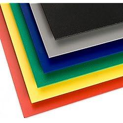 PVC Espumado Plancha Medidas 50cm x 100cm Grueso 3mm Color negro